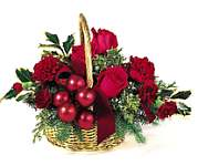 Edmonton Florist, Roses , carnations ,  mini carns , ornaments in Basket/SW22