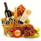 Edmonton Florist, Wine, Cheese ,Crackers, Chocolate ,Nuts & Fruit Medley/901