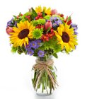 Edmonton Florist, Birthday Flowers Bouquet Full of Blooms/T-15