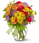 Edmonton Florist,  Favorite Blooms  in Vase & Bow/A203
