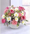 Edmonton Florist, Pink & White Basket Full of Flowers /M-05