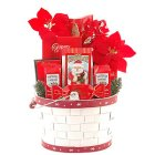 Edmonton Florist, Just  to say Happy Holidays Basket, 3Chocolates, Marzipan , ginger bread,wafers & ornament/418