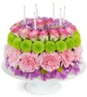Edmonton Florist, Birthday Cake with Candles Fresh & Real/E512