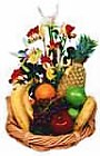 Edmonton Florist, Mixed Fruit & Flowers Basket/043